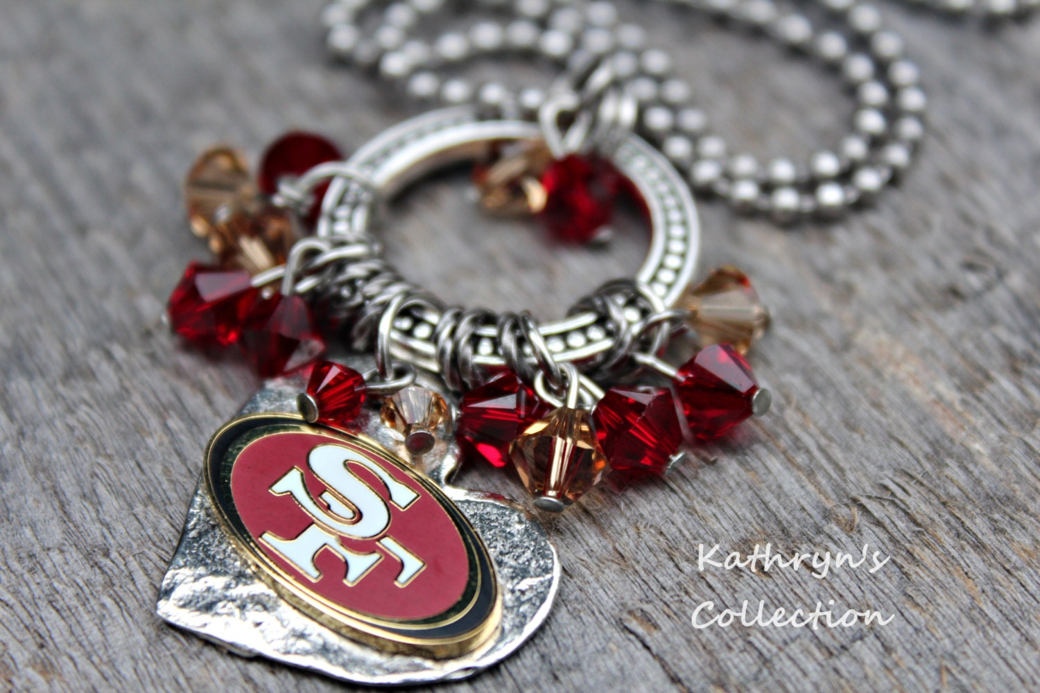 san francisco 49ers necklace 49ers jewelry 49ers necklace