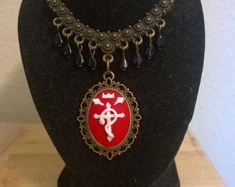 Flamel's Cross Cameo Pendant
