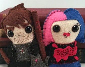 Harry Dresden and Molly Carpenter - Dresden Files plushies
