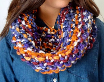 Knit Cowl - Chunky Cowl - Extra Large Cowl - Oversized Cowl - Colorful Cowl
