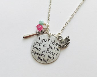 Mulan Inspired Necklace. Girl Worth Fighting For.