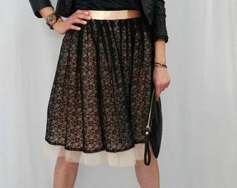 Women Tulle Skirt / Lace Tutu Skirt / Princess Skirt, Wedding Skirt / Lace Skirt / EXPRESS SHIPPING / MD 2002