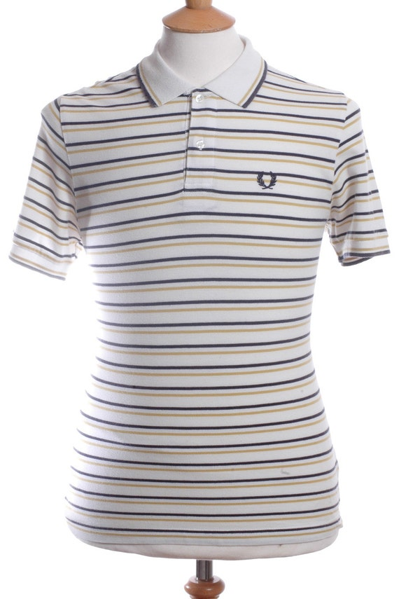 Vintage Fred Perry Striped Polo Shirt S By Brickvintage On