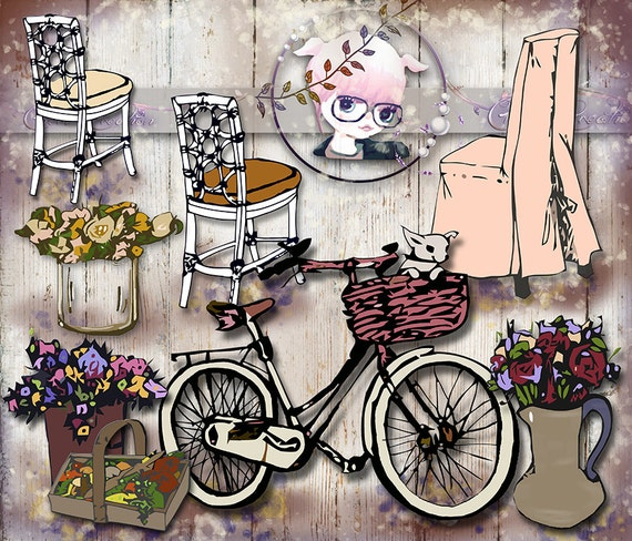 Rustic Wedding Clipart Country Wedding Clipart by ...