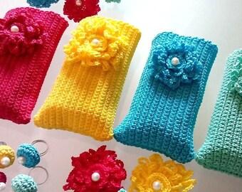 Mobile Phone Case Handmade Crochet Iphone 6,5C,5S, Samsung