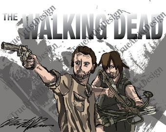 The Walking Dead Fan Art Poster