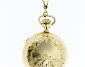Hampden Ladies Pocket Watch Gold Filled