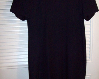 Vintage Kasper's Little Black Dress Brocade Trim , Elegant Understated Find   12