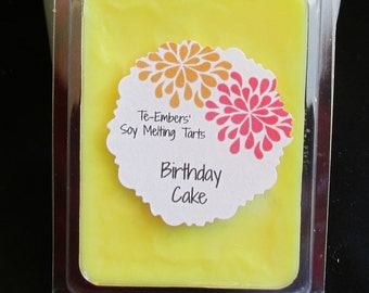 Birthday Cake Scented Soy Clamshell Tarts