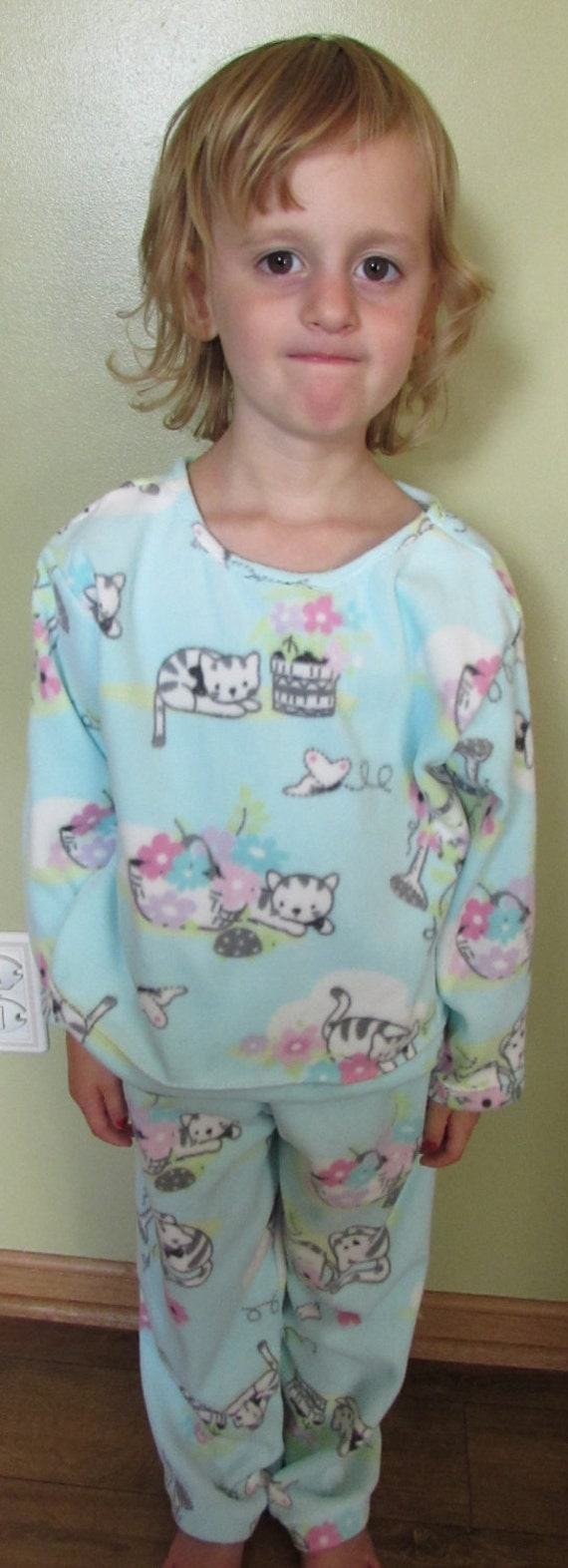 Kitty Cat micro fleece pajamas