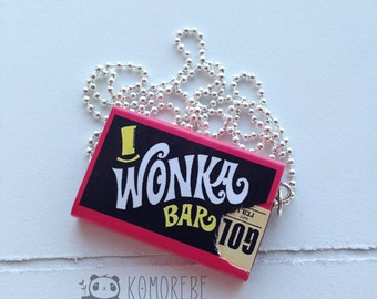 Wonka, Willy Wonka Bars, chocolate factory, necklace