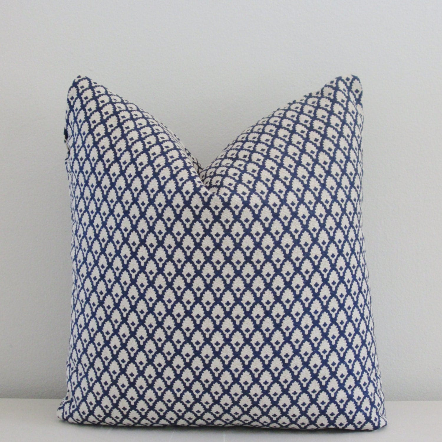 Navy Linen Pillow Cover Decorative Throw Pillow Accent