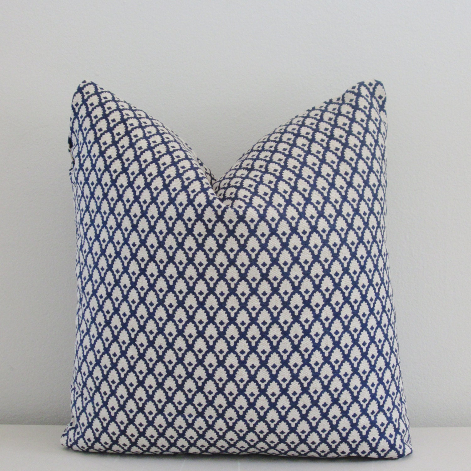 Decorative Linen Pillows : Navy Linen Pillow Cover Decorative Throw Pillow Accent
