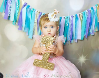 Glitter Numbers,  1st Birthday Decoration, Birthday Party Decor,