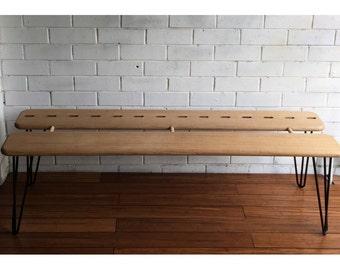 Hairpin leg bench seat