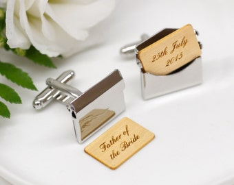 Father Of The Bride Cufflinks, Father of the Bride Gift, Wedding Day Accessories, Wedding Cufflinks, Father Of The Bride Envelope Cufflinks