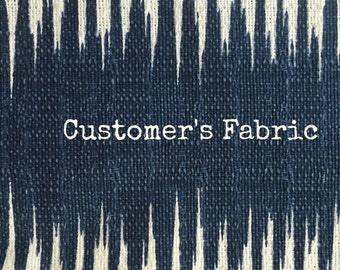 Small Custom Clip On Lamp Shade in Customer's Fabric