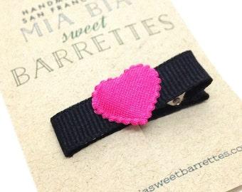 Pink Heart Hair Clip Barrette