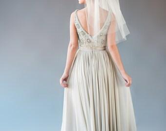 ARIANNA VEIL | three-tiered shoulder length veil, short veil, layered veil, bridal veil, wedding veil, bridal illusion tulle