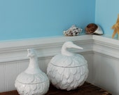Feathered Nest Canisters, Quail~Heron~Flamingo