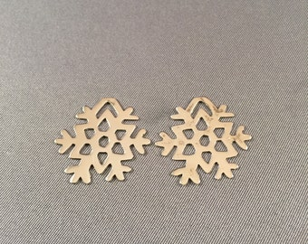 Two (2) Snowflake .925 Sterling Silver Charms