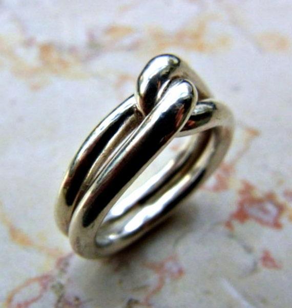 knot ring infinity man ring eternity men ring men silver