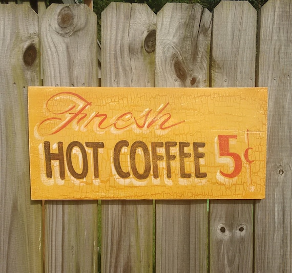 Coffee Shop Signs Kitchen Sign Kitchen Decor Cafe Sign Vintage