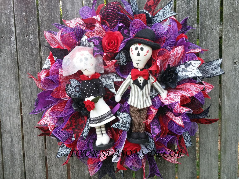 Day of the Dead Wreath Dia de Muertos Wreath Sugar Skull