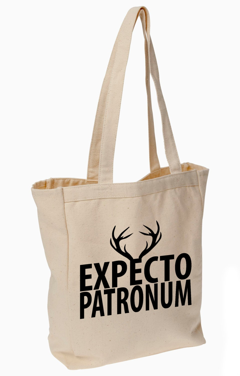 expecto patronum harry potter tote bag. Black Bedroom Furniture Sets. Home Design Ideas