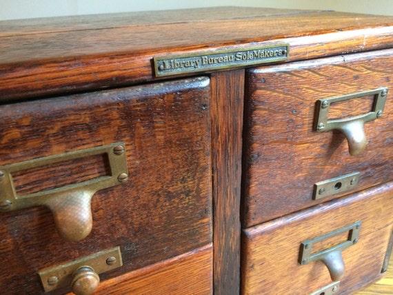 vintage library bureau sole maker 4 drawer cabinet. Black Bedroom Furniture Sets. Home Design Ideas