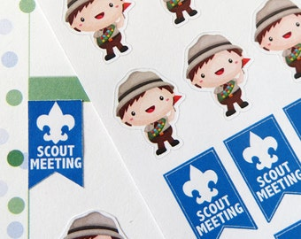 Boy Scout Stickers for Erin Condren Planner, Filofax, Plum Paper