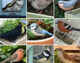 Needle Felt Bird Sculpture of Your Choice
