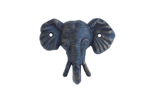 Metal Elephant Wall Decor : Items similar to elephant hook black and gold