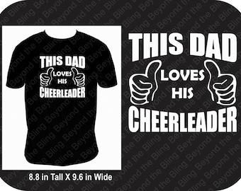 Cheer dad shirt this dad loves his cheerleader shirt competition shirt for cheer dad shirt for cheer dad love my cheerleader shirt for dad