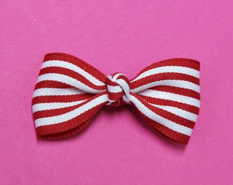 Stripe Bow Tie Hair Bow - Chevron Bow Tie Hair Bow - Bow Tie
