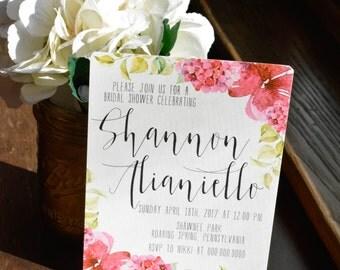 FLORAL Bridal Shower Invitations #5