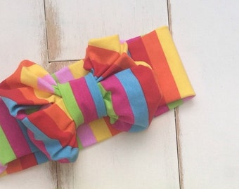 Rainbow Stripe Sparkler Headband