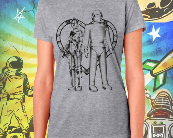 Metropolis Maria Robot Love Women's Gray T-Shirt