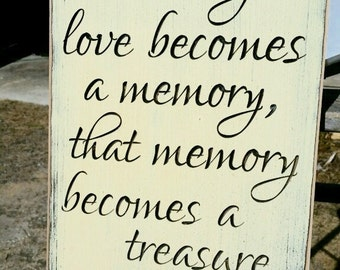"Personalized Carved Wooden Sign - ""When Someone You Love Becomes A Memory..."""