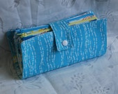 4 Pocket Fabric Cash Wallet with Card Slots and Checkbook Pocket