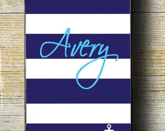 Anchor iPhone Case, Nautical iPhone 6 plus case, Blue and White iPhone 6 case, iPhone 5c phone case, blue and white, nautical case, anchor