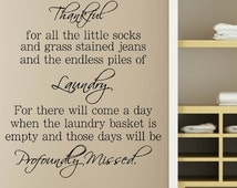 Laundry Decal - Laundry Room Decal - Laundry Quote Decal - Laundry Room Wall Decal -