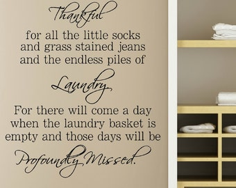 Laundry Wall Decor laundry room decals | etsy
