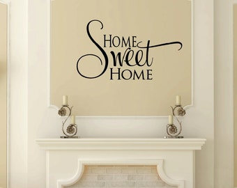 Home Sweet Home Decal,  Housewarming Gift, Home Sweet Home Sign, New Home Gift, Home Wall Art, Fourier Decor, Entry Way Decor