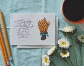 bouquet of pencils you've got mail greeting card // fall in new york art print // 4x6 art print // greeting card for her