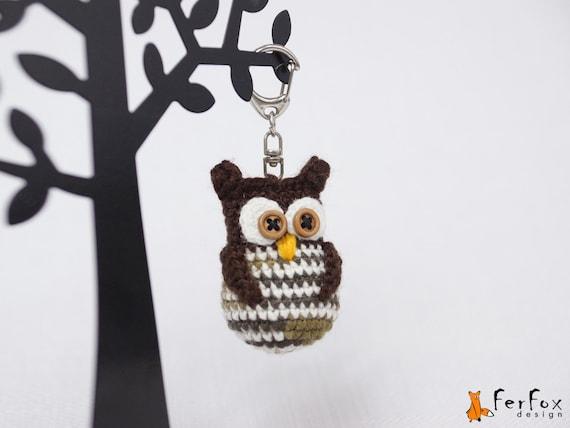 Amigurumi Owl Keychain : Owl keychain owl keyring amigurumi owl keychain crochet owl