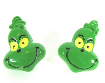 SALE The Grinch Post Earrings   Stud Earrings   Christmas Earrings