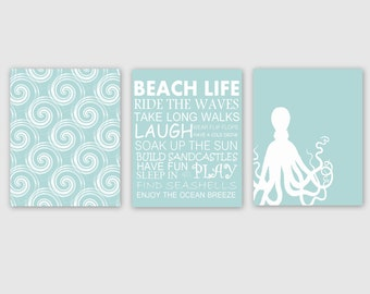 Beach Themed Wall Art Beach Wall Art | Etsy