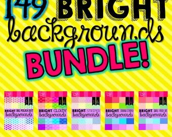 Bright Backgrounds BUNDLE (149 Digital Backgrounds)