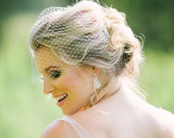 Piper Bird Cage Veil, Bridal Bird Cage Veil, Wedding Veil